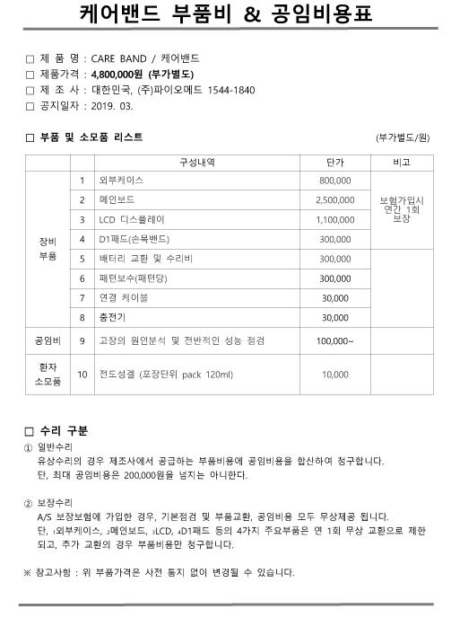케어밴드 부품&소모품가격표.jpg